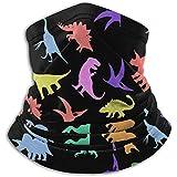 Bufanda De Cuello Patrón De Colores De La Polaina De Cuello De Dinosaurio Envoltura De La Cabeza Más Caliente del Invierno