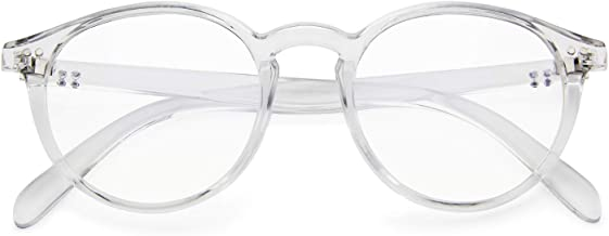 Blue Light Blocking Glasses,Vintage Nails Round Minimize Digital Headache Anti Eyestrain(Transparent)