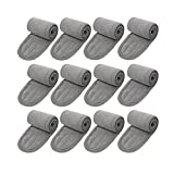 Spa Facial Headband Hair Wrap Make Up Head Cloth Leaflai Headbands Women Hair For Washing Adjustable Towel with Magic Tape Non-slip Stretchable Washable for Face Treatment Sport Pack (12 PCS, Gray) womans facial hair removal Dec, 2020
