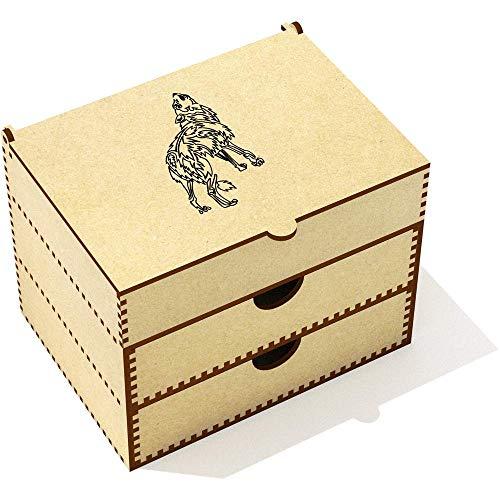 Azeeda 'Loup Tribal' Boîte de Maquillage (VC00005028)
