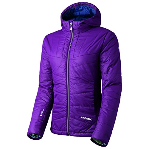 Atomic Dames, lichte tussenjas, ski en vrije tijd, waterafstotend, AP5028730, Ridgeline Jacket, Lila, Maat: XS