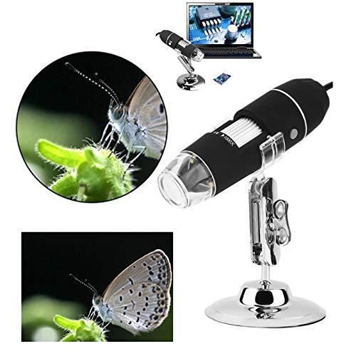 Microscopio Digital USB 2MP, 1000X endoscopio Zoom de la cámara Lupa + Stand Dispositivo 8 LED del endoscopio de la cámara USB a Prueba de Agua