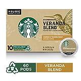 Starbucks Veranda Blend Blonde Roast Single Cup Coffee for Keurig Brewers, 10 Count K-Cup Pods, Pack...