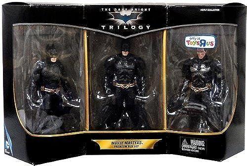 suministro directo de los fabricantes 2013 Exclusive Batman the Dark Knight Trilogy Trilogy Trilogy Movie Masters Premium Box Set by DC Comics  nuevo sádico