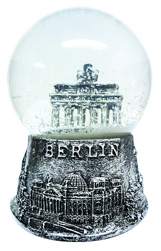 Schneekugel Berlin Brandenburger Tor silber 6,5 cm