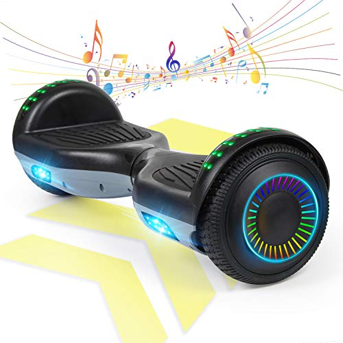 """FLYING-ANT Hoverboard Off Road All Terrain Self Balancing Scooters 6.5"""" Flash Two-Wheel Self Balancing Hoverboard with Bluetooth Speaker and LED Lights for Kids and Adults Gift"""