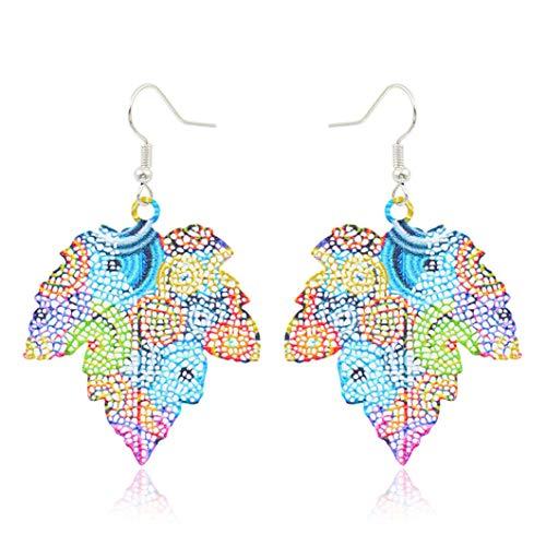 petit un compact Boucles d'oreilles imprimées couleur SJHFG Boucles d'oreilles exquises à gros flocons…
