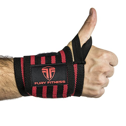 Wrist Wrap for Bodybuilding & Crossfit with Thumb Loops, Weightlifting Wrist Straps Reduce Pain, Wrist Brace for Lifting Heavy Weights, Best Universal Wrist Band for Super Strength Training & Support