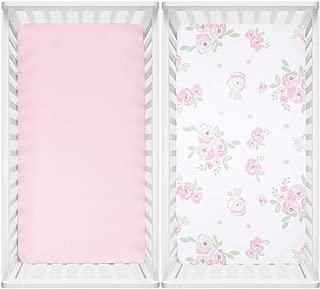 watercolor floral crib sheet