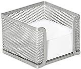 Osco MPH400-SLV - Cubo de notas de malla metálica, 400 hojas, color plateado