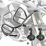 Set Defensas + Faro Adicional XL4 para BMW R 1200 GS 08-12 Negro