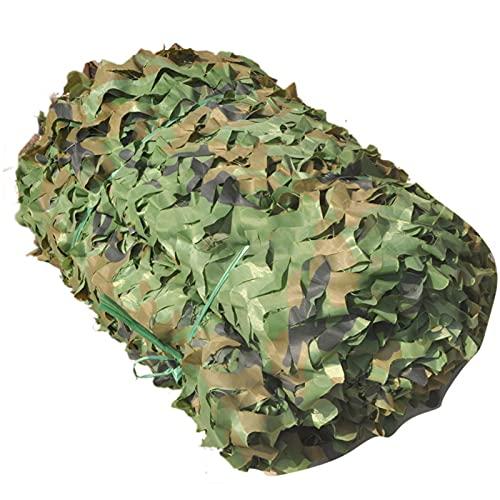 LXLCZ Malla De Camuflaje Militar, Oxford Malla De Camuflaje, Ejército Caza Militar Red De Camuflaje, Army Jungle Red De Camuflaje, para Parasol, Caza, Tiro, Camping(Size: 2x3m/6.5x9.8ft)
