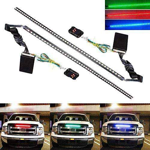 iJDMTOY (2) 20 inches 48-LED RGB 7-Color LED Knight Rider Scanner Lighting Bars Compatible With Car Truck SUV Interior or Exterior Decoration