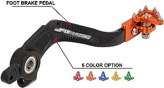 Motorcycle Rear Foot Brake Pedal Lever For KTM Husqvarna SX SX-F XC XC-F XC-W XCF-W EXC EXC-F EXC-R SMR SXS SXS-F XCR-W 125 144 150 200 250 300 350 400 450 500 505 530 - CNC Orange