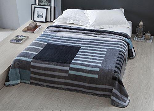 Cobertor Corttex Sidney Cinza, Tamanho Casal, Tecido