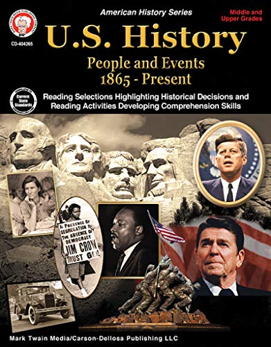 Compare Textbook Prices for Mark Twain Media   US History 1865–Present Resource Workbook   6th–12 Grade, 96pgs American History  ISBN 9781622236442 by Lee, George,Cameron, Schyrlet,Myers, Suzanne