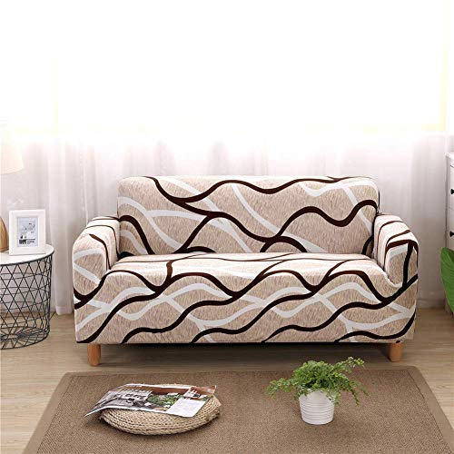 nordmiex Stretch Sofa Slipcovers Fitted Furniture Protector Printed Sofa Covers Stylish Fabric Couch Cover with 2 Pillowcases for 4 Cushion Couch(Sofa-4 Seater,Printed #016)