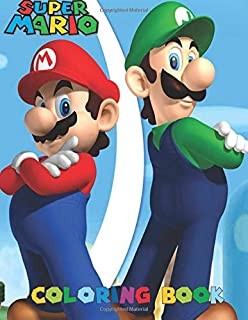 SUPER MARIO Coloring Book: Activity Book for Kids and Adults - 40 illustrations