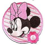 Disney © Minnie Mouse BLUME 2 - Aufnäher, Bügelbild, Aufbügler, Applikationen, Patches, Flicken, zum aufbügeln, Größe: 7 x 7 cm