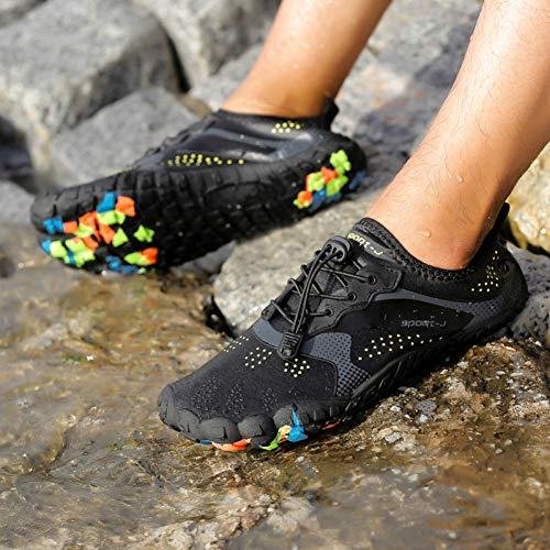 Hombres Y Mujeres Fitness Running Zapatos de Senderismo Transpirables Cinco Dedos Zapatos de Cable Zapatos de Vadeo Al Aire Libre Antideslizante de Gran Tamaño