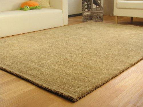 Gabbeh Teppich Nomade - Handarbeit aus 100% Schurwolle - sand, Größe: 160x230 cm