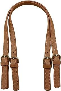 2 Pcs 0.6 inch Wide PU Leather Purses Straps Adjustable Handbags Shoulder Bag Strap Replacement Handles Purse, Brown