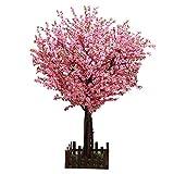 BOWCORE Artificial Flor del melocotón árboles Artificiales Flor de Cerezo del árbol de Seda de la Flor 5 pies de Alto 1,5M Artificial Flor de Cerezo Árboles Rosa Claro Boda al Aire Libre de Interior