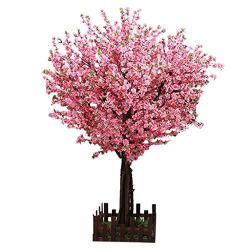 xutu Planta 3,9ft Artificial árbol de la Flor Rosada Casi Natural Artificial Peach Blossom árboles for la Boda del Partido de Eventos al Aire Libre de Interior Restaurante del Centro de la Seda