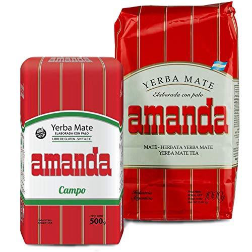 Juego de té Yerba Mate Amanda Tradial 1 kg + Amanda Campo...
