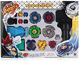 Besmon Metal Master Battling Tops Launcher(Storm Pegasus/Flame Libra/Earth Eagle/ Lightning L-Drago) Spinning Top Funny Novelty Spinning Toys Gift for Boys