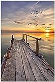 Wallario Garten-Poster Outdoor-Poster - Sonnenuntergang