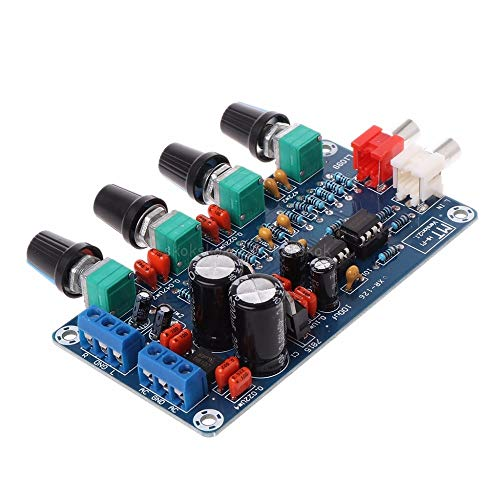 For Sale! V2AMZ - Dual AC 12V-18V NE5532 Preamplifier Volume Tone Treble Midrange Bass Control Board...