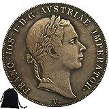 YunBest 1853 Moneda de níquel Italia - Monedas conmemorativas de Italia - Monedas antiguas de Italia - Monedas de Europa de Italia + bolsa KaiKBax - Regalo para novios/marido BestShop