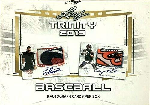 2019 Leaf Trinity Baseball box (SIX on-card Autograph cards)