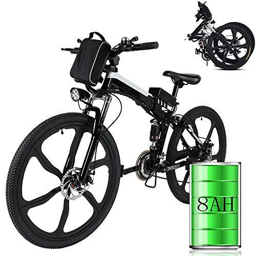 Laiozyen Vélo Electrique 26' e-Bike VTT Pliant 36V 8AH Batterie au Lithium de Grande Capacité et Le Chargeur Premium Suspendu et Shimano Engrenage (Typ4_26'')