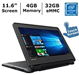 Lenovo N23 2-in-1 Convertible Laptop (2017 ), 11.6' Touchscreen HD IPS Display, Intel Celeron Dual Core Processor Up to 2.5 GHz, 4GB RAM, 32GB SSD, Webcam, Bluetooth, Windows 10 Professional