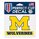 WinCraft NCAA University of Michigan WCR38151014 Perfect Cut Color Decal, 4.5' x 5.75'
