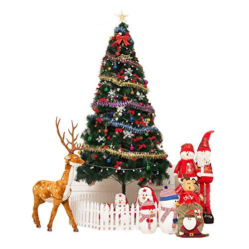 Árbol de Navidad artificial con decoración, 180 cm (6 pies) Pino de...