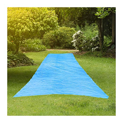 RESILIA - Super Slip Lawn Water Slide Giant, 75 Feet Long x 12 Feet Wide, for Adults and Teens, Powder Blue with Hold Steady Stakes