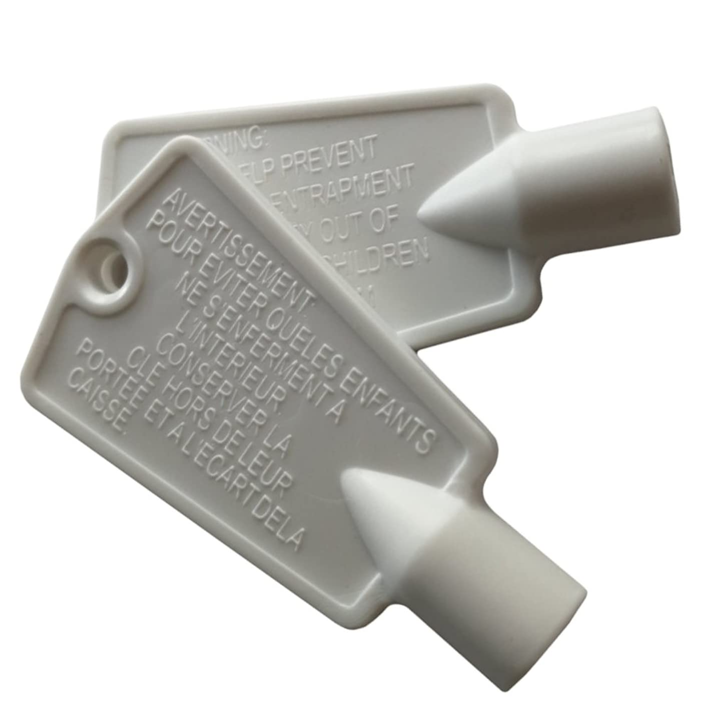 Ximoon 2 Pack 297147700 Freezer Key for Frigidaire Kenmore Door Lock Replacement Parts
