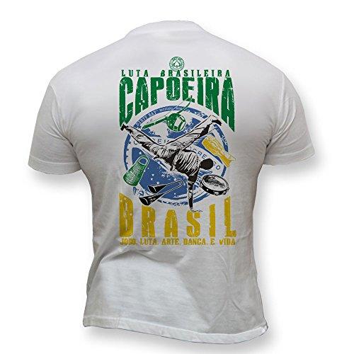 Dirty Ray Arts Martiaux MMA Capoeira Lutte brésilienne t-Shirt Homme K1 (L)