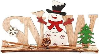 RNUYKE Christmas Decorations Wooden Letters Ornaments Desktop Santa Claus Decoration