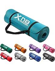 Xn8 Yogamatta Träningsmatta 15mm Halkfri fitness matta Physio gymnastikmatta för pilates fitness och träning 183 x 61 x 1.5 cm