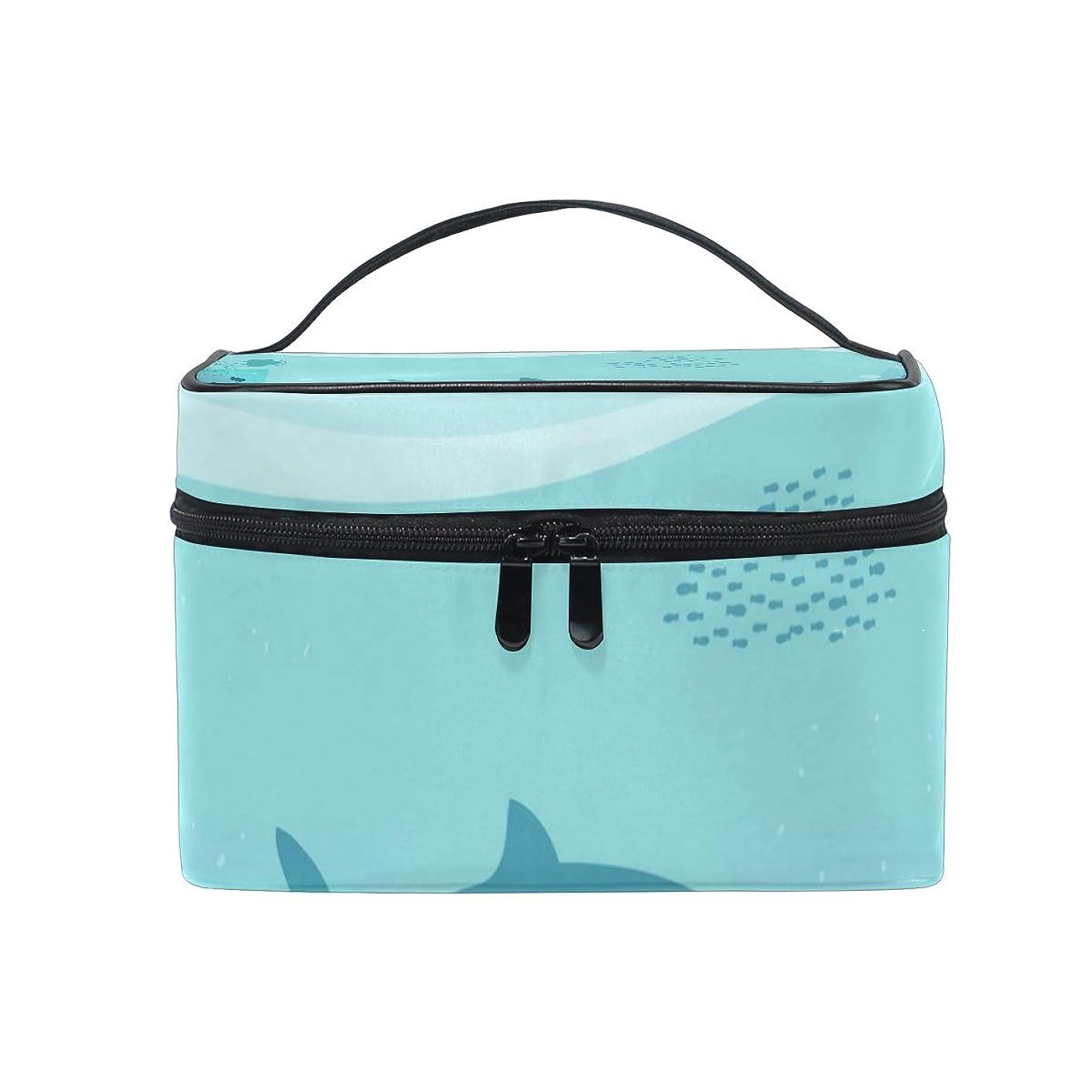 彫刻戸惑うボックスメイクボックス 海、自然の風景柄 化粧ポーチ 化粧品 化粧道具 小物入れ メイクブラシバッグ 大容量 旅行用 収納ケース