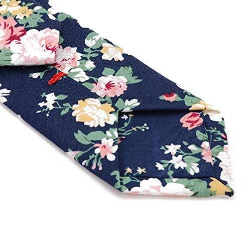 Mantieqingway Men's Cotton Printed Floral Neck Tie (MYF006-029)