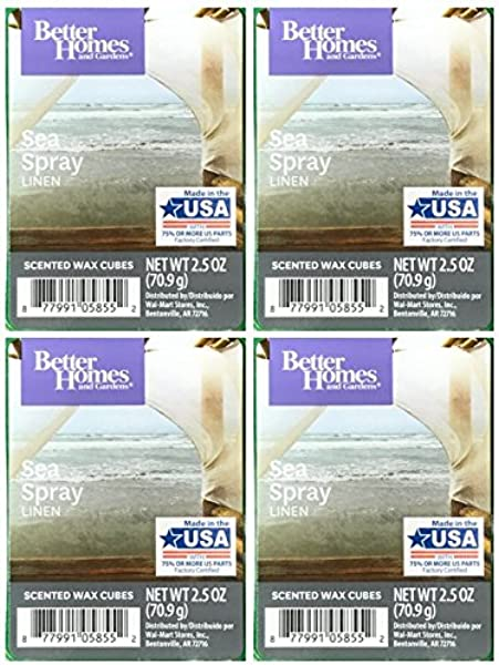 Better Homes And Gardens Sea Spray Linen Scented Wax Cubes 4 Pack