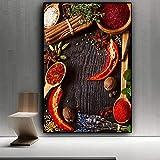 MYSY Wandkunst Leinwand Gemälde Lebensmittel Chili Bilder