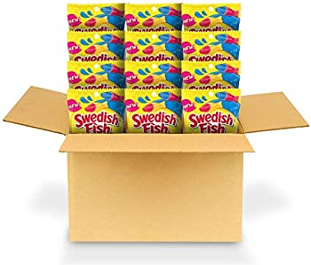 Swedish Fish Tails Candy, 2 Flavors in One, Twelve 4 Oz. Bags