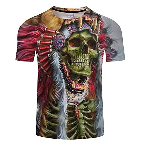 T Shirt Skull 3D T Shirt Men Tshirt Summer T-Shirt Casual Top Short Sleeve Tees O-Neck Streetwear Print Asians Tx488