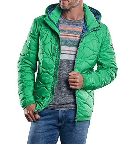 engbers Herren Auffällig gefärbte Steppjacke, 30167, Grün in Größe 62